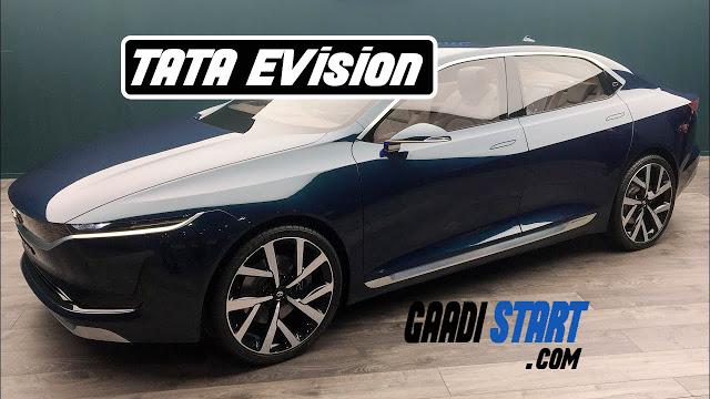 New Tata E-Vision electric sedan